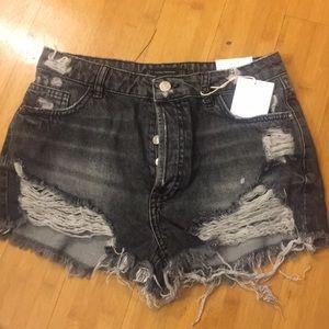 Zara TRF demin shorts